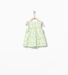 ZARA - MINI - Wzorzysta sukienka z falbankami