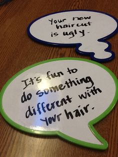 I'm going to print and laminate speech bubbles to use with social skills groups.  Kids can write on them using white board markers.