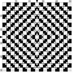 optical illusion free chart -this would be an evil afghan to gift someone
