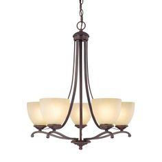 Capital Lighting 3945BB-201 - Chapman 5 Light Chandelier, Burnished Bronze