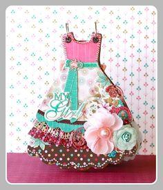 Adorable dress shaped mini album