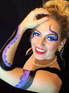 Ursula DIY costume. Disney make-up.