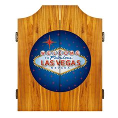 Las Vegas Dart Cabinet Includes Darts And Board From ManCaveGiant.com