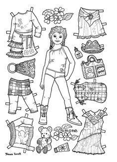 Karen`s Paper Dolls: Simone