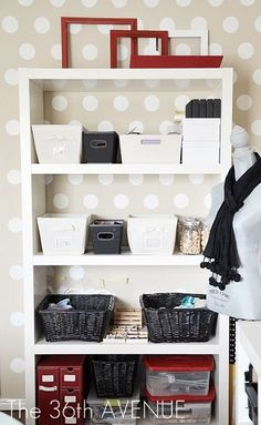 Craft Room design and tons of organization ideas and tips!
