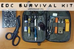 An EDC survival kit, can help you get home or survive, even if you can't get to your car to grab your Get Home Bag or any other gear.