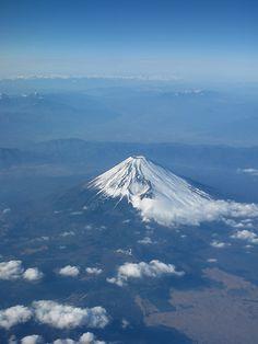 Aerial view of Mt. Fuji, Japan 富士山