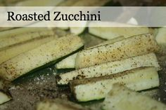 10 Minute Roasted Zucchini Recipe from Eating on a Dime