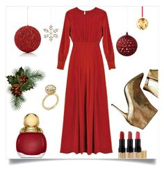 """""""party dress"""" by im-karla-with-a-k ❤ liked on Polyvore featuring Christian Dior, Gold Eagle, Shishi, Georg Jensen, Alexander McQueen and Bobbi Brown Cosmetics"""