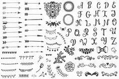 310 elements - Big Vintage Set on Behance