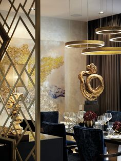 Come get amazed by the best dining room lighting inspiration. See more pieces at  luxxu.net