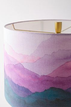 Slide View: 3: Painted Range Lamp Shade