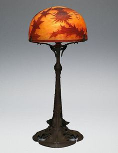 Daum  &  Louis Majorelle: Thistle Lamp