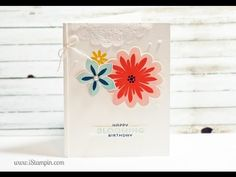 Stampin' Up! Happy Blooming Birthday - YouTube