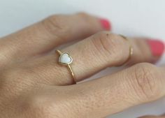 Gold Heart Ring with Australian Opal, Opal Heart Ring, Heart Gemstone Ring, Rainbow Opal Ring Gold Heart Ring, Rose Gold Diamond Ring, Gold Diamond Wedding Band, Thin Gold Rings, Dainty Gold Rings, Silver Ring, Vintage Engagement Rings, Diamond Engagement Rings, Solitaire Rings