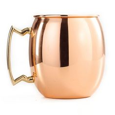 This Original Moscow Mule Mug design is made to last with a solid copper body and a hefty cast brass handle. Resilient lacquer coating that resists tarnishing for long-lasting beauty and luster.