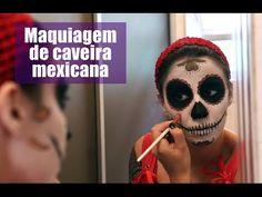 Maquiagem de caveira mexicana (catrina) passo a passo - Halloween/Dia de Los Muertos - YouTube