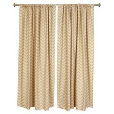 "Whether framing a picture window or standing in for a closet door, this linen and cotton curtain adds a pop of pattern to your decor.  Product: Set of 2 curtain panelsConstruction Material: Linen, cotton and 95/5 down feather fillColor: KhakiFeatures:  2"" Rod pocket3"" Hem at bottom  Cleaning and Care: Spot clean"