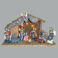12 Christmas Figures by Gordon Companies, Inc. $84.00. Shipping Weight: 2.00 lbs. Please refer to SKU# ATR26066385 when you inquire.. This product may be prohibited inbound shipment to your destination.. Picture may wrongfully represent. Please read title and description thoroughly.. Brand Name: Gordon Companies, Inc Mfg#: 30668429. 12 Christmas Figures/nativity figures/stable LED lighted/stable 15.5''H/figures 2-5''H/made of resin and wood/you get one of each of the figures shown