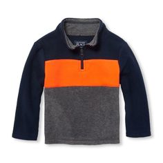 176c5c5f Toddler Boys Long Sleeve Colorblock Half-Zip Mock Neck Pullover Pula, Mock  Neck,