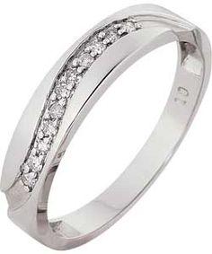 9ct White Gold Diamond Wave Eternity Ring.