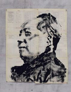 ウィリアム・ケントリッジ、「無題(毛沢東)、「2016年、グッドマンギャラリー
