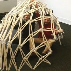 "#peekaboo Today's #PrimitiveHut : Amazing #retractable #dome #prototype in Professor Chuck Hoberman's seminar ""Transformable Design Methods"" by Coco Ke Shi (@cocoxxds), Anahit hayrapetyan (@anahithay), Adam Sherman (@__sherm__) and Narek Tashdjian (@tash_nar) @columbiagsapp"