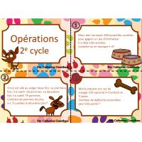 cartes à tâche, opérations, 2e cycle Core French, Cycle, Fun Math, Fractions, Teacher, Student, Activities, School, Aide