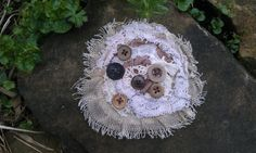 Handmade Tattered Corsage Brooch by RavensNook on Etsy