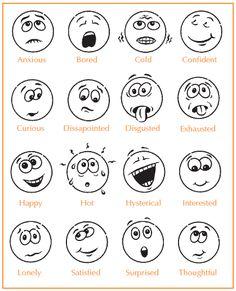 Feeling Faces Printables | EasyWokandBBQ.nl is een onderdeel van: Easycateringdrachten.nl