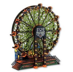 *Want* Department 56 Scaredy Cat Ferris Wheel by Department Halloween House, Spooky Halloween, Holidays Halloween, Halloween Crafts, Happy Halloween, Halloween Decorations, Halloween Party, Halloween Stuff, Halloween Ideas
