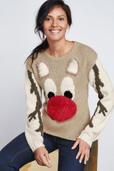 Next Mink Fun Rudolph Sweater - Petite at EziBuy New Zealand. Buy women's, men's and kids fashion online. Ugly Christmas Jumpers, Festive Jumpers, Holiday Sweaters, Christmas Clothes, The Best Of Christmas, Christmas Time, Merry Christmas Ya Filthy Animal, Pullover, Jumpers For Women