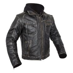 Classically distressed with a removable hoody, the Custom BiLT Drago Leather Motorcycle Jacket is as versatile as it is stylish. Wear it with the hoody or without. Trust us - you look good either way. All at a price that won't break you.