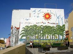 Street art graffiti at Punta Brava Tenerife by the Association of Medio ambiente ( society for the environment).
