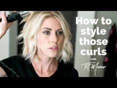 How I style my short hair  Beach Wave - Hair Tutorial - YouTube