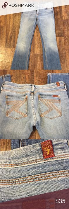 """Flynt 7 For All Mankind jeans I have a pair of 7 For All Mankind bootcut jeans in style Flynt. They are Size 29 and the inseam is 33"""". They are in like new condition. Beautiful pair of jeans!!! ❤❤ 7 For All Mankind Jeans Boot Cut"""