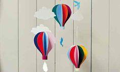 Hot air balloon mobile