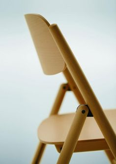 Sneak peek at the new folding Hiroshima Chair by Naoto Fukasawa for Maruni