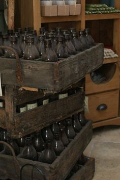 Common still today, Germans can have beer delivered to their homes. Get your own crate of beer bottles at European Country Living.