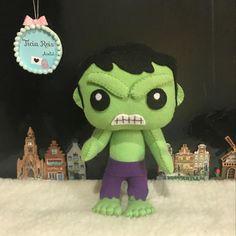 Hulk em feltro #hulk #hulkfeltro #atelieticiareis #ticiareis #vingadores