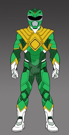 MMPR Green Ranger Concept Complete by on DeviantArt Power Rangers Fan Art, Power Rangers Cosplay, Kamen Rider, Dino Rangers, Green Power Ranger, Ranger Armor, Power Rengers, New Gods, New Avengers