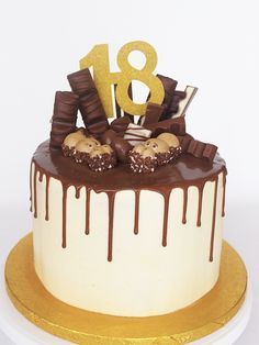 Plan Your Food Plan In Real 'Melonish' Style - My Website 14th Birthday Cakes, Candy Birthday Cakes, Candy Cakes, Birthday Drip Cake, Chocolate Covered Treats, Chocolate Drip Cake, Cake Recept, Drip Cakes, Pretty Cakes
