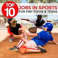 Is your pre-teen or teen looking to get off the couch and make some money $ this summer? Check out this list of the Top 10 Sports Jobs for pre-teens and teens!