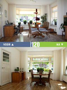 Woonkamer voor en na verkoopstyling Studio 120
