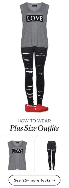 """Untitled #1171"" by kayla3n on Polyvore featuring 2LUV, Carmakoma and TOMS"