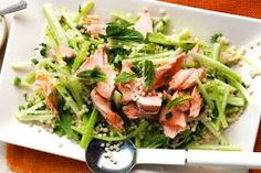Image result for poached salmon salad