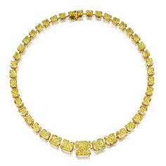 Magnificent Fancy Vivid Yellow Diamond Necklace - Sotheby's