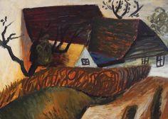 Poiana Mărului [1963] HORIA BERNEA 1938, Bucharest - 2000, Paris oil on cardboard, 49 × 68 cm, signed and dated on the right side, Horia Bernea, III 1963 Valoare estimativă: € 2.500 - 3.500  Conservation status: for further technical details, do not hesitate to contact loredana.codau@artmark.ro