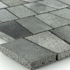 Mozaïektegel Basalt Natuursteen Antraciet