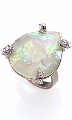 Iridescent Swarovski Crystal Ring